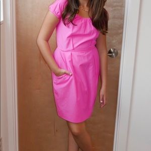 J. Crew hot pink neon dress with pockets, size 0